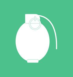 Icon military hand grenade vector