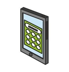 Isolated password inside tablet design vector