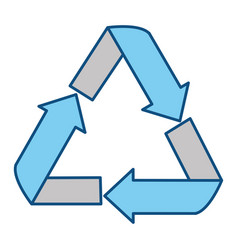 isolated recycle emblem vector image