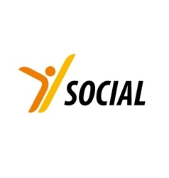 Logo social vector