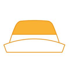 Male farmer hat icon vector