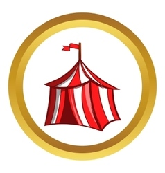 Medieval knight tent icon cartoon style vector