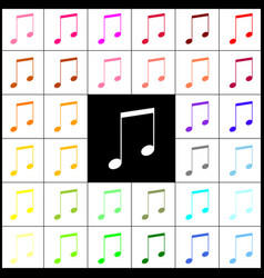 music sign felt-pen 33 vector image vector image