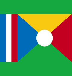 National flag of la reunion vector