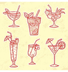 Party Drinks Set vector image vector image