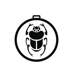 Scarab amulet icon simple style vector