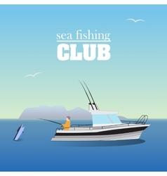 Sea marlin fishing on the boat vector image vector image