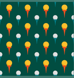 Seamless background design with golf ball detail vector