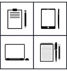 Set Business Icons vector image