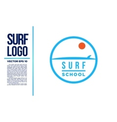 Surf logo wave logotype blue vector