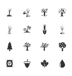 Trees tools icon set vector