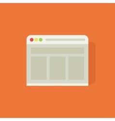 Web browser icon vector image vector image