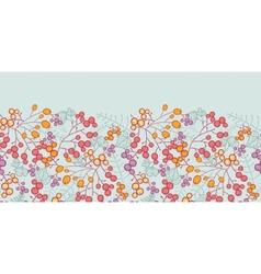 Winter berries horizontal seamless pattern vector image vector image