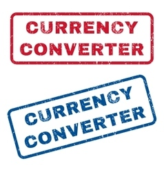 Currency converter rubber stamps vector