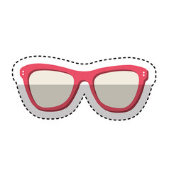 Fashion glasses summer icon vector