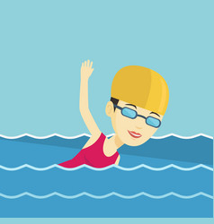 Woman swimming vector