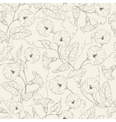 Bindweed flower seamless pattern vector