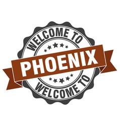 Phoenix round ribbon seal vector