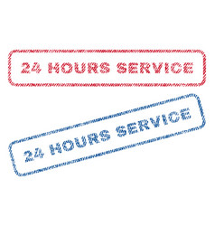 24 hours service textile stamps vector
