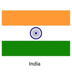 Flag of the country india vector