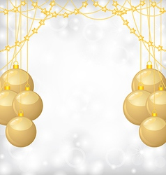Balls gold bead vector