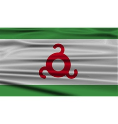 Flag of ingushetia with old texture vector