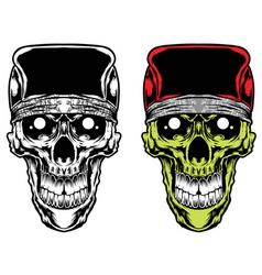 skull caps bandana vector vector image