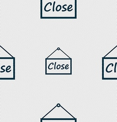 Close icon sign seamless abstract background with vector