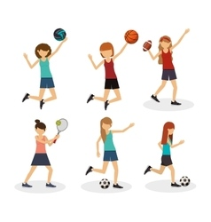 Athlete avatar design vector
