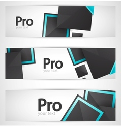 Business square banner set vector