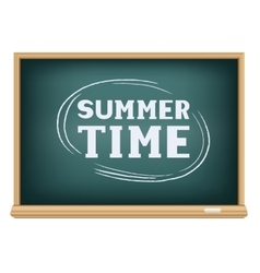 Blackboard summer time vector