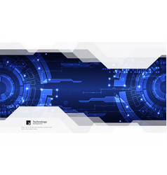 abstract blue digital communication technology vector image vector image