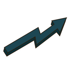 Arrow business growth profit finance chart icon vector