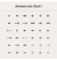 Arrow icon setPart I vector image