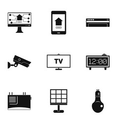 Automation technology icon set simple style vector