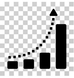 bar chart trend icon vector image