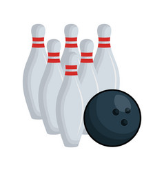 Bowling sport equipment icon vector