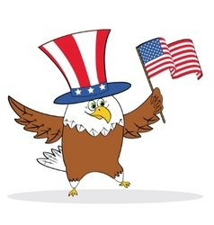 cartoon patriotic eagle vector image vector image