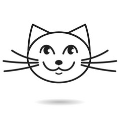 cat hand drawn icon vector image