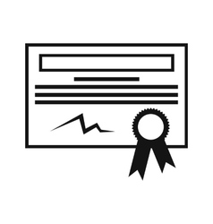 Certificate black icon vector