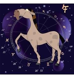 Chinese horoscope year of horse cartoon vector image