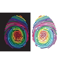 Color finger print vector