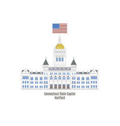 connecticut state capitol vector image