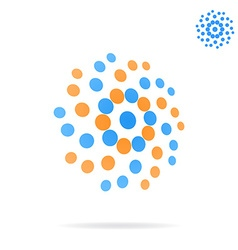 Dotted circle abstrat sign vector