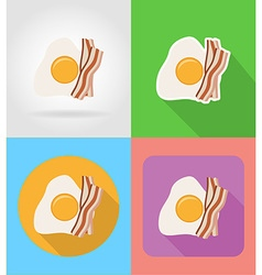 fast food flat icons 10 vector image vector image