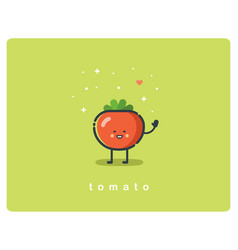 flat icon of tomato cute vegetable cartoon vector image vector image