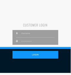 Flat login form template design for your web or vector