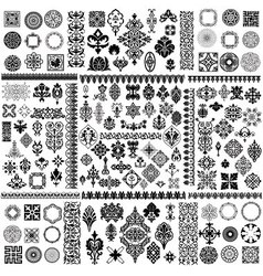 floral filigree Elements set vector image