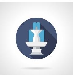 Fountain architecture round flat color icon vector