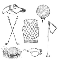 Golf collection vector